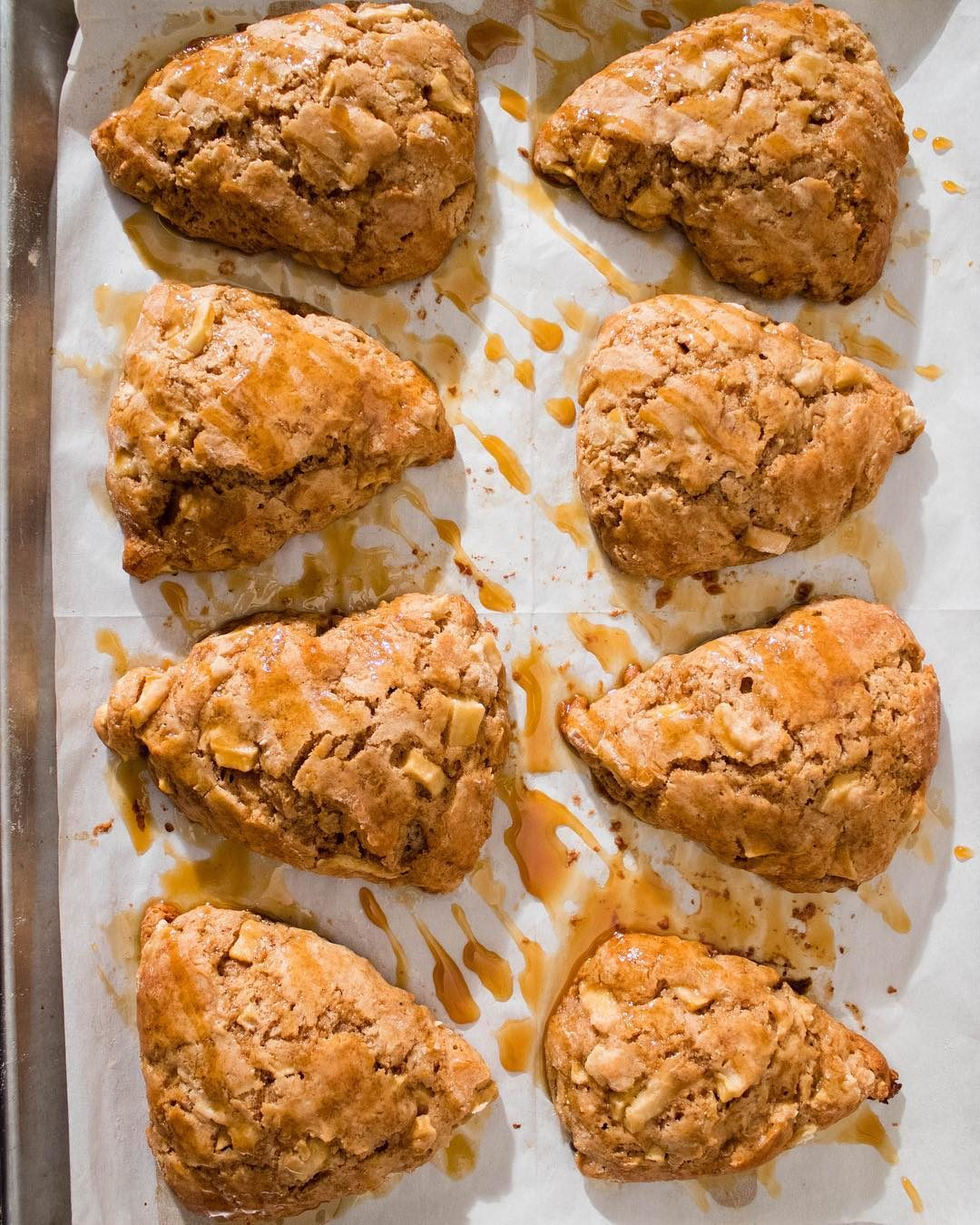 Salted Caramel Cinnamon Apple Scones